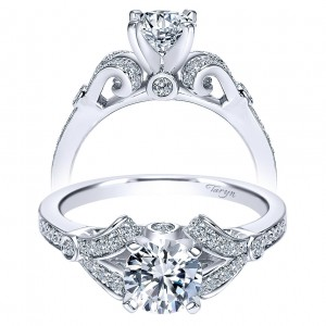 Taryn 14k White Gold Round Split Shank Engagement Ring TE8004W44JJ