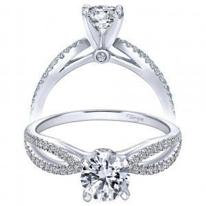 Taryn 14k White Gold Round Split Shank Engagement Ring TE8129W44JJ
