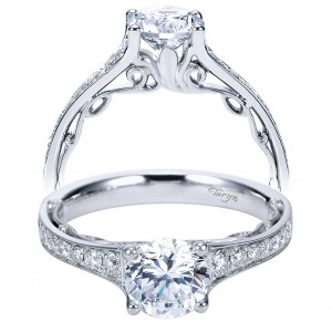Taryn 14k White Gold Round Straight Engagement Ring TE7723W44JJ