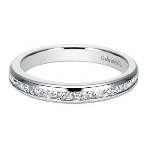 Gabriel 14 Karat Contemporary Wedding Band WB6598W44JJ