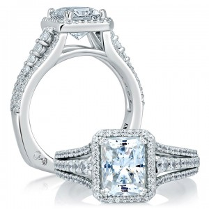A.JAFFE Platinum Signature Engagement Ring MES568