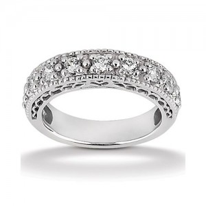 Diamond Antique Band Platinum Taryn Collection TQD B-0541