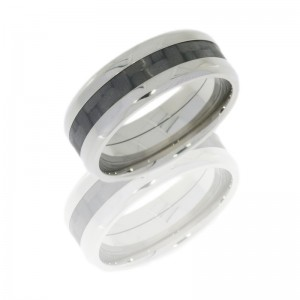 Lashbrook C8B13/CF(NS) POLISH Titanium Wedding Ring or Band