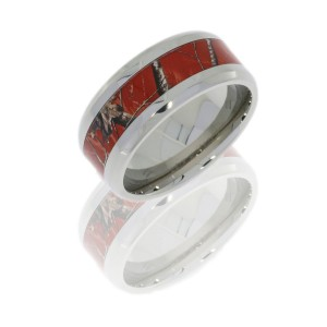 Lashbrook 8B14/RTAPRED POLISH Camo Wedding Ring or Band