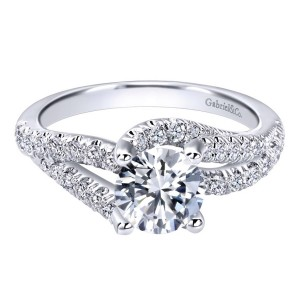 Gabriel 14 Karat Contemporary Engagement Ring ER10261W44JJ