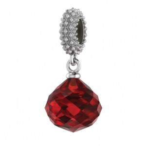 JLo Collection Endless Jewelry Ruby Mysterious Drop Sterling Silver Charm 3301-3
