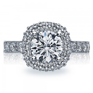 Tacori 38-3CU75 18 Karat Blooming Beauties Engagement Ring