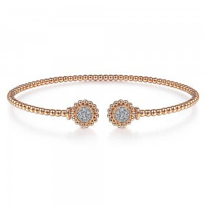 Gabriel Fashion 14 Karat Diamond Bujukan Bangle Bracelet BG4259-6K45JJ