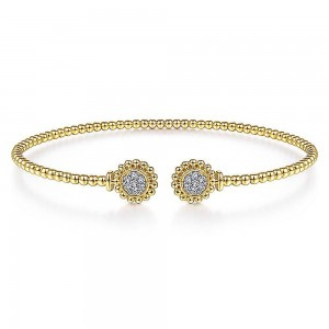 Gabriel Fashion 14 Karat Diamond Bujukan Bangle Bracelet BG4259-6Y45JJ