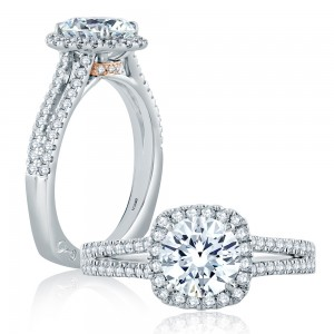 A.JAFFE Platinum Signature Engagement Ring MES874