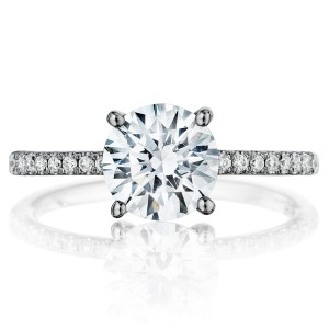 Henri Daussi BSX Round Diamond Solitaire Engagement Ring