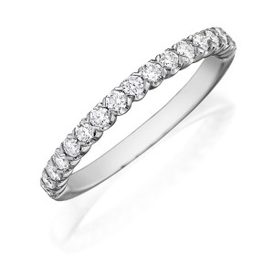 Henri Daussi WBJS Unique V-Prong Diamond Wedding Ring
