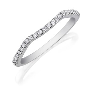 Henri Daussi WBWK Fitted Curved Diamond Wedding Ring