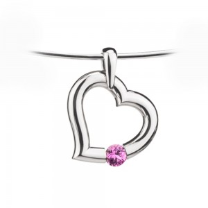 Kretchmer 18 Karat Heart Shape Tension Set Pendant