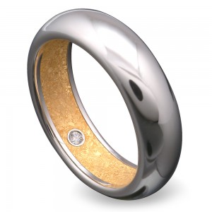 Kretchmer Platinum/24K Gold Hidden Treasure Band