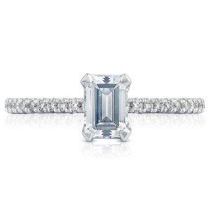 HT254515EC65X45 Platinum Tacori Petite Crescent Engagement Ring