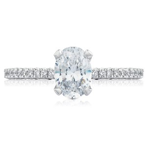 HT254515OV75X55 Platinum Tacori Petite Crescent Engagement Ring