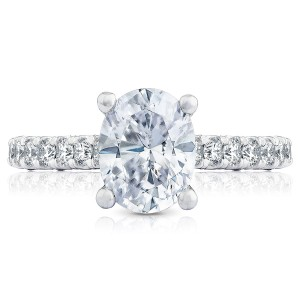 HT254625OV9X7 Platinum Tacori Petite Crescent Engagement Ring