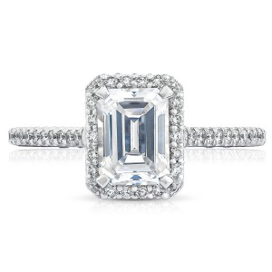 HT254715EC75X55 Platinum Tacori Petite Crescent Engagement Ring