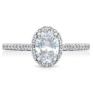 HT254715OV75X55 Platinum Tacori Petite Crescent Engagement Ring