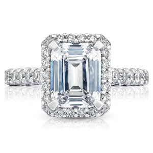 HT254725EC9X7 Platinum Tacori Petite Crescent Engagement Ring