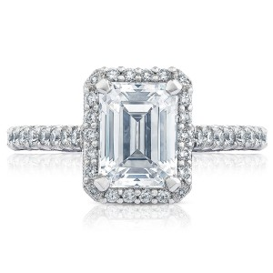 HT2547EC8X6 Platinum Tacori Petite Crescent Engagement Ring
