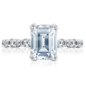 HT2558EC85X65 Platinum Tacori Petite Crescent Engagement Ring