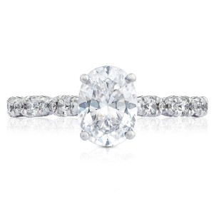 HT2558OV8X6 Platinum Tacori Petite Crescent Engagement Ring