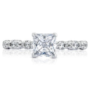 HT2558PR55 Platinum Tacori Petite Crescent Engagement Ring