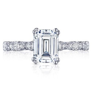 HT2559EC8X6 Platinum Tacori Petite Crescent Engagement Ring
