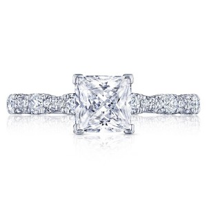 HT2559PR6 Platinum Tacori Petite Crescent Engagement Ring