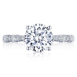 HT2559RD8 Platinum Tacori Petite Crescent Engagement Ring