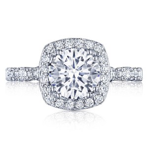 HT2560CU75 Platinum Tacori Petite Crescent Engagement Ring
