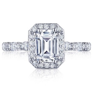 HT2560EC75X55 Platinum Tacori Petite Crescent Engagement Ring