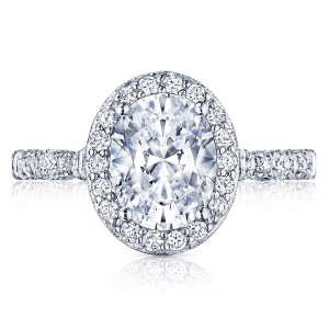 HT2560OV9X7 Platinum Tacori Petite Crescent Engagement Ring