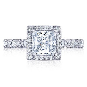 HT2560PR6 Platinum Tacori Petite Crescent Engagement Ring