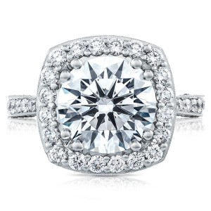 HT2650CU10 Platinum Tacori RoyalT Engagement Ring