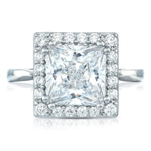 HT2651PR85 Platinum Tacori RoyalT Engagement Ring