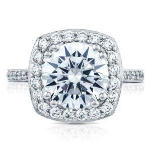 HT2652CU95 Platinum Tacori RoyalT Engagement Ring