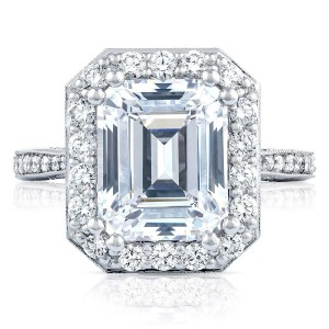 HT2652EC105X85 Platinum Tacori RoyalT Engagement Ring