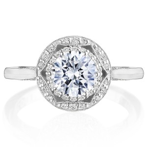 Tacori HT2563RD65 18 Karat Crescent Chandelier Engagement Ring