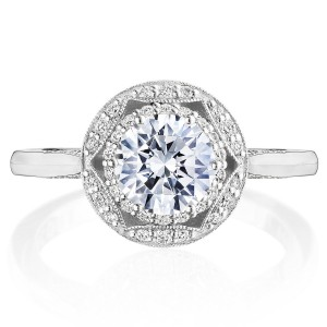 Tacori HT2563RD65 Platinum Crescent Chandelier Engagement Ring