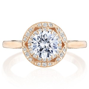 Tacori HT2563RD65PK 18 Karat Crescent Chandelier Engagement Ring