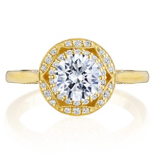 Tacori HT2563RD65Y 18 Karat Crescent Chandelier Engagement Ring