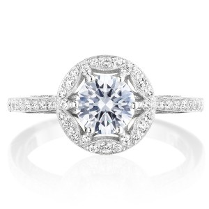 Tacori HT2568RD6 Platinum Crescent Chandelier Engagement Ring