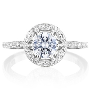 Tacori HT2568RD6W 18 Karat Crescent Chandelier Engagement Ring