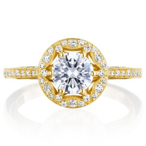 Tacori HT2568RD6Y 18 Karat Crescent Chandelier Engagement Ring