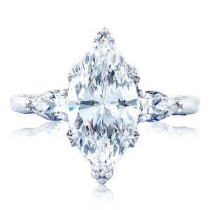 Tacori HT2628MQ15X75 18 Karat RoyalT Engagement Ring