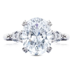 Tacori HT2628OV11X9 18 Karat RoyalT Engagement Ring