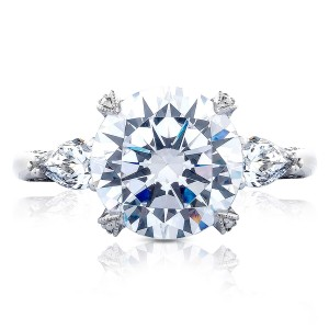 Tacori HT2628RD10 18 Karat RoyalT Engagement Ring